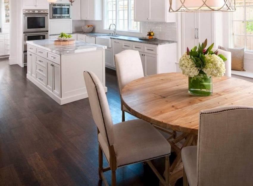 Стол для кухни на одной ноге: виды, преимущества и недостатки