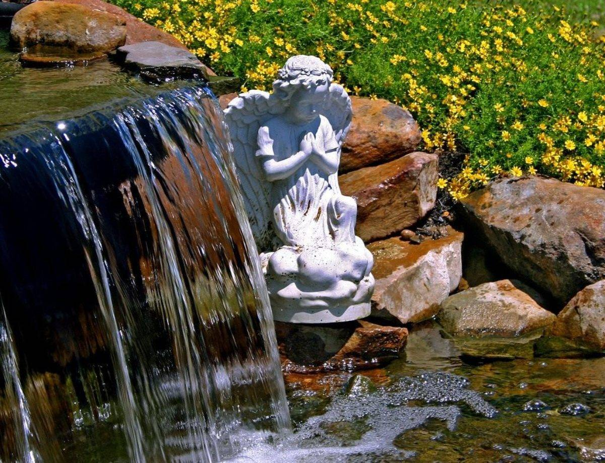 Как сделать фонтан своими руками в саду: мастер-классы, декоративные варианты, пруд с фонтаном, фото + видео