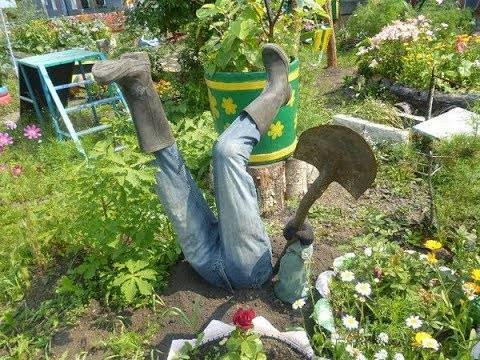 Красивые поделки для сада и дачи сделанные своими руками
