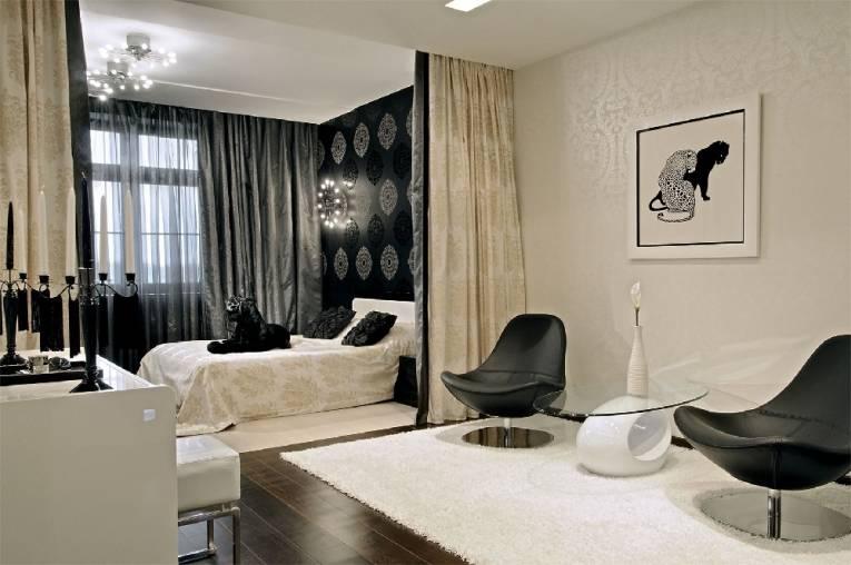 Спальня в гостиной: идеи зонирования и советы дизайнеров
