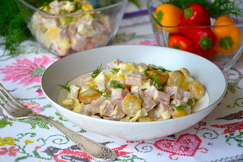 Салат с сыром и грибами - 129 домашних вкусных рецептов приготовления