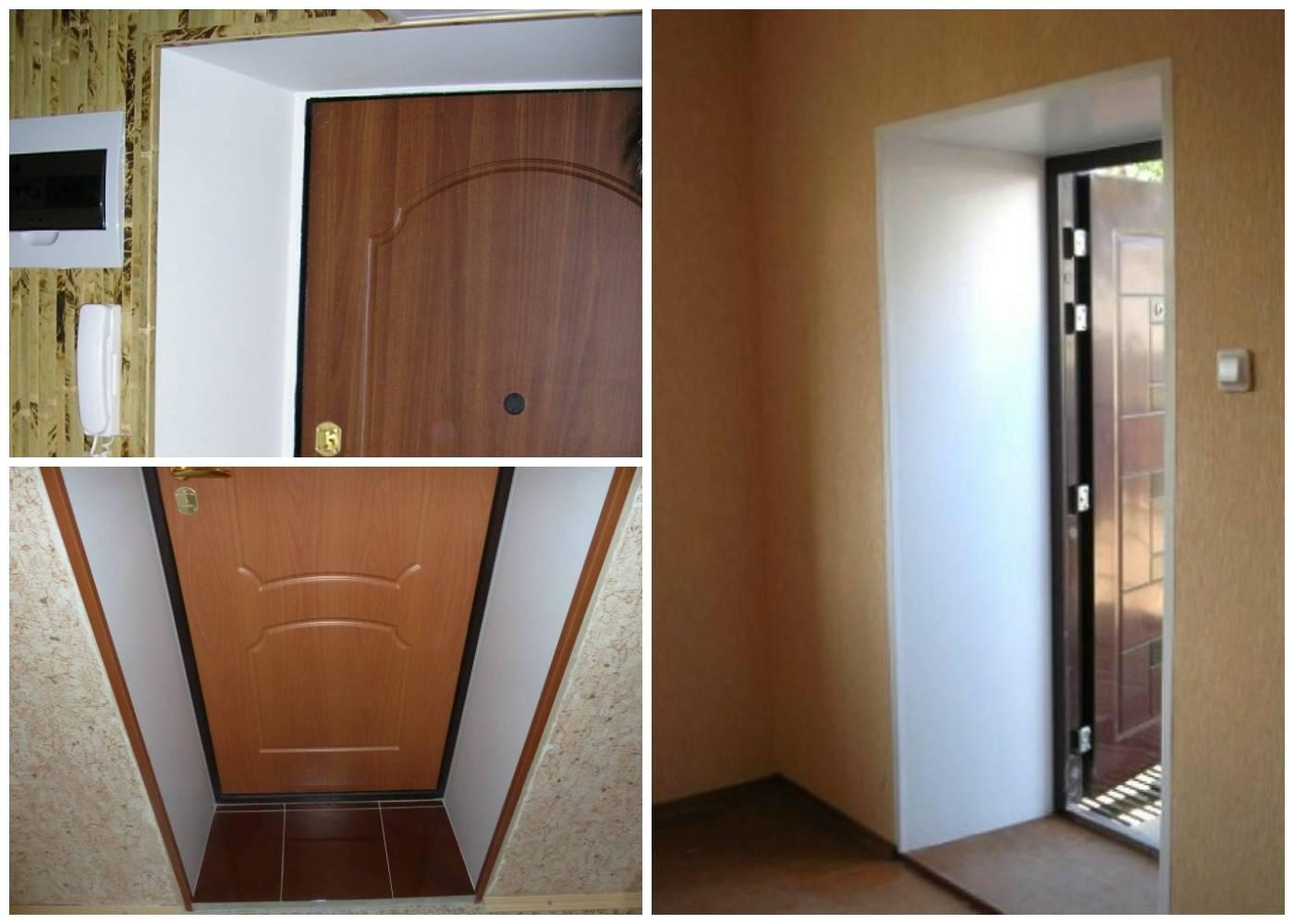 Способы монтажа откосов из различных материалов для межкомнатных дверей