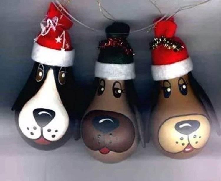 Новогодняя игрушка своими руками собака из коробки. делаем своими руками елочную игрушку собачку