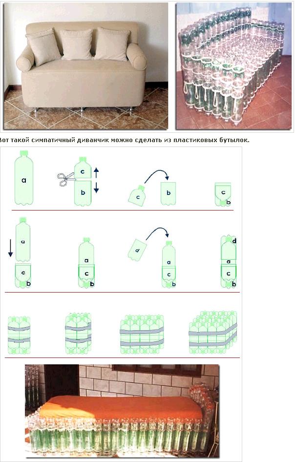 Как сделать своими руками стол из пластиковых бутылок для дома, дачи или пикника
