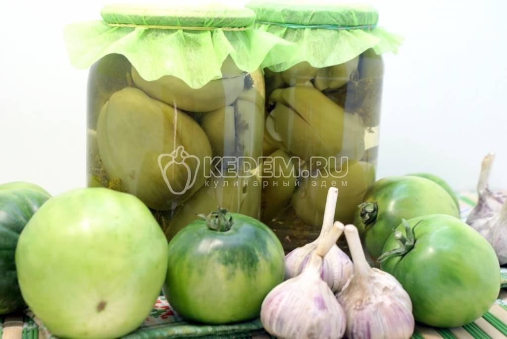 Зеленые помидоры на зиму, самые лучшие рецепты