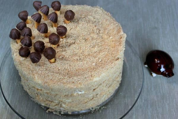 Торт трухлявый пень с джемом