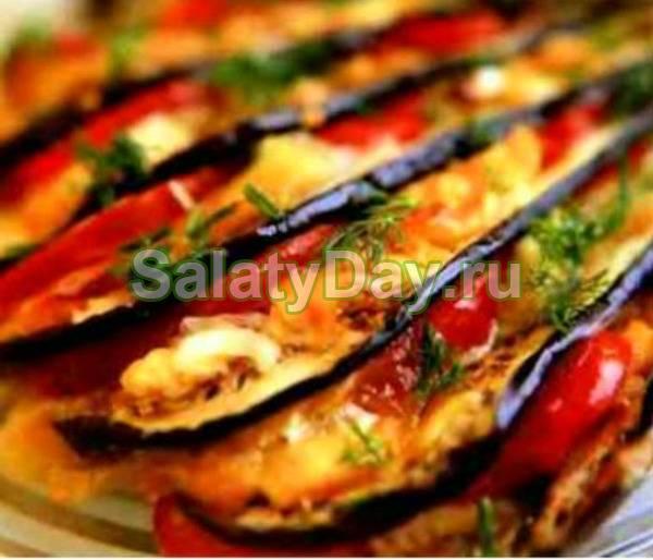 Аппетитные варианты закусок из помидор и баклажанов