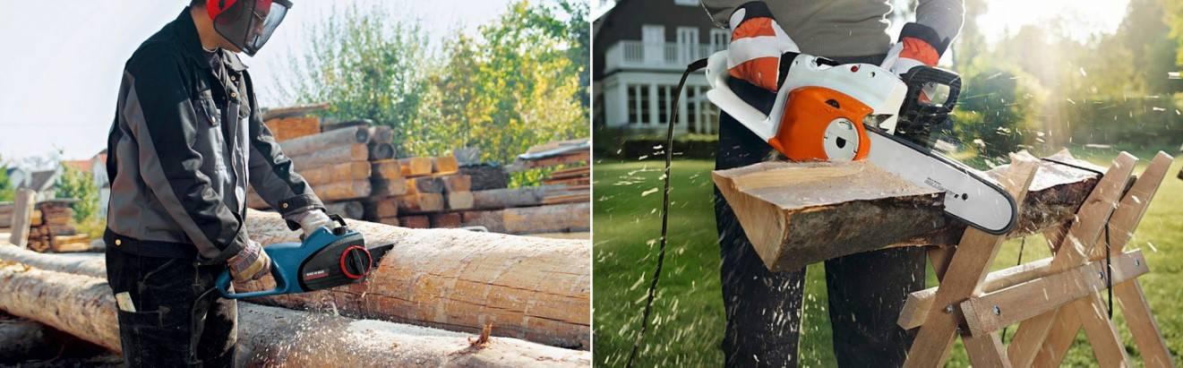 Как выбрать легкую цепную электропилу по дереву для дачи