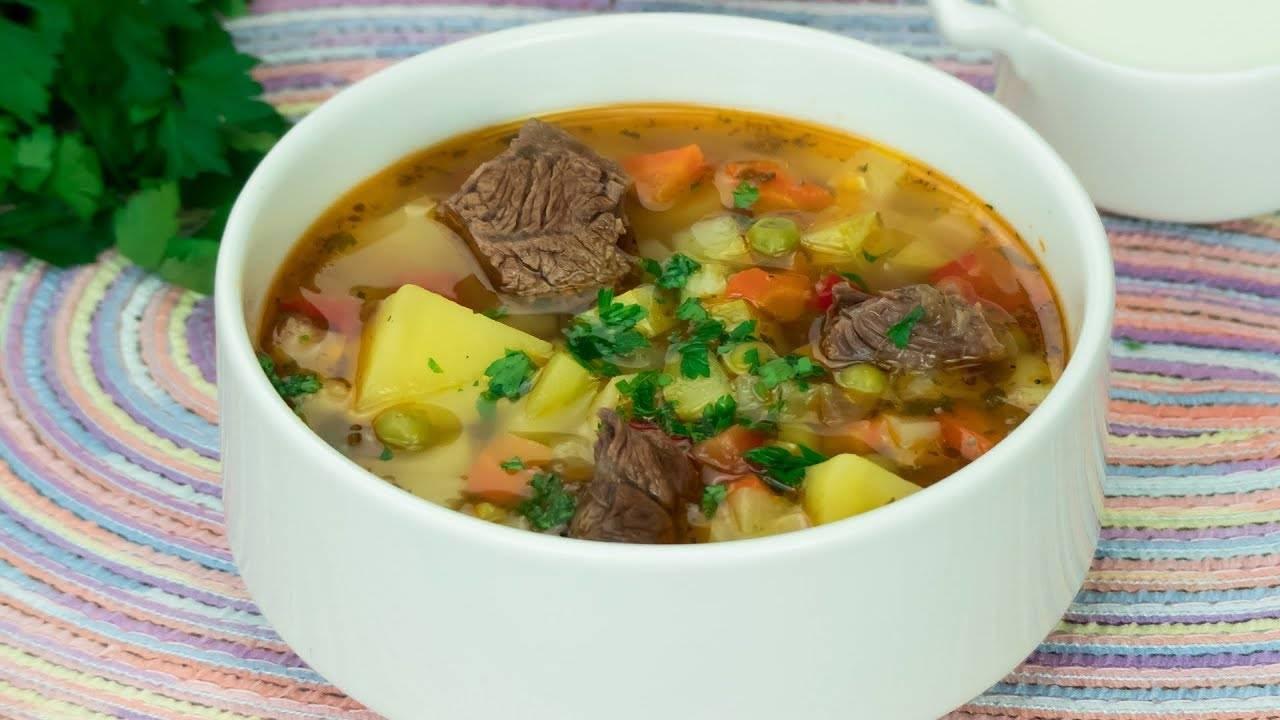 Овощной суп с кабачками и капустой