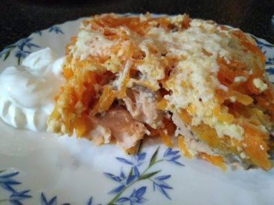 Филе минтая с морковью и луком в духовке