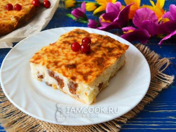 Запеканка с рисом и творогом в мультиварке, рецепт с фото