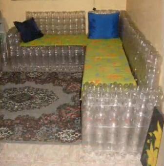 Создаем мебель из пластиковых бутылок своими руками