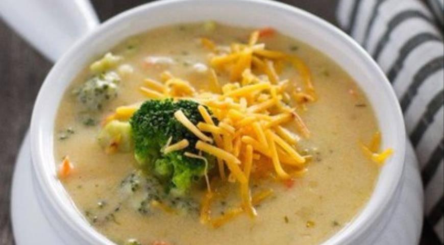 Суп-пюре с грибами и плавленным сыром