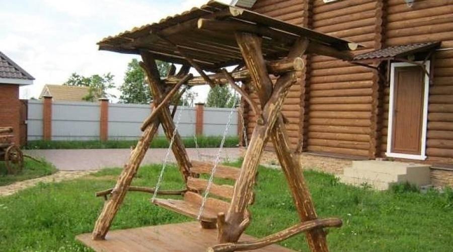 Делаем уличные качели своими руками для дачи из дерева и металла