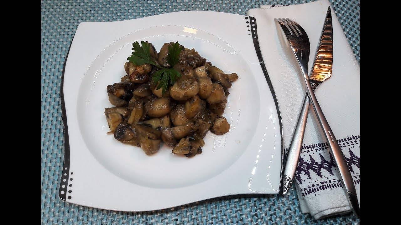 Жареные грибы с луком - 418 домашних вкусных рецептов приготовления