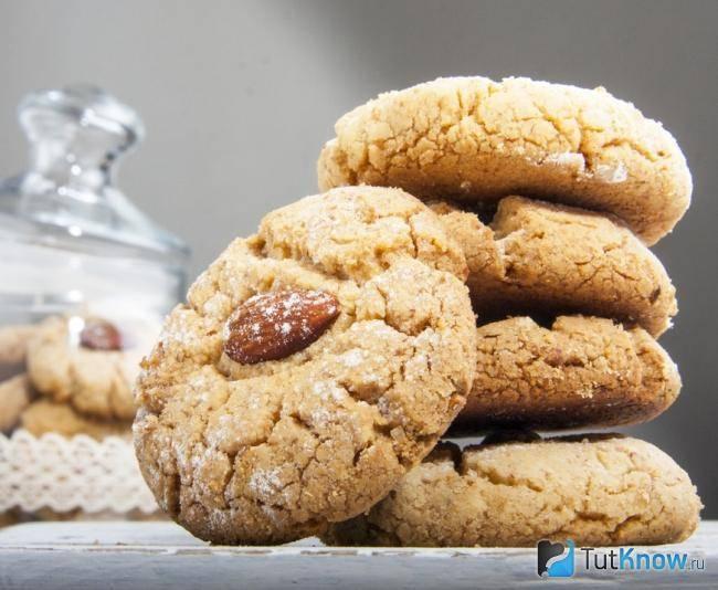 Рецепт печенья с миндалем