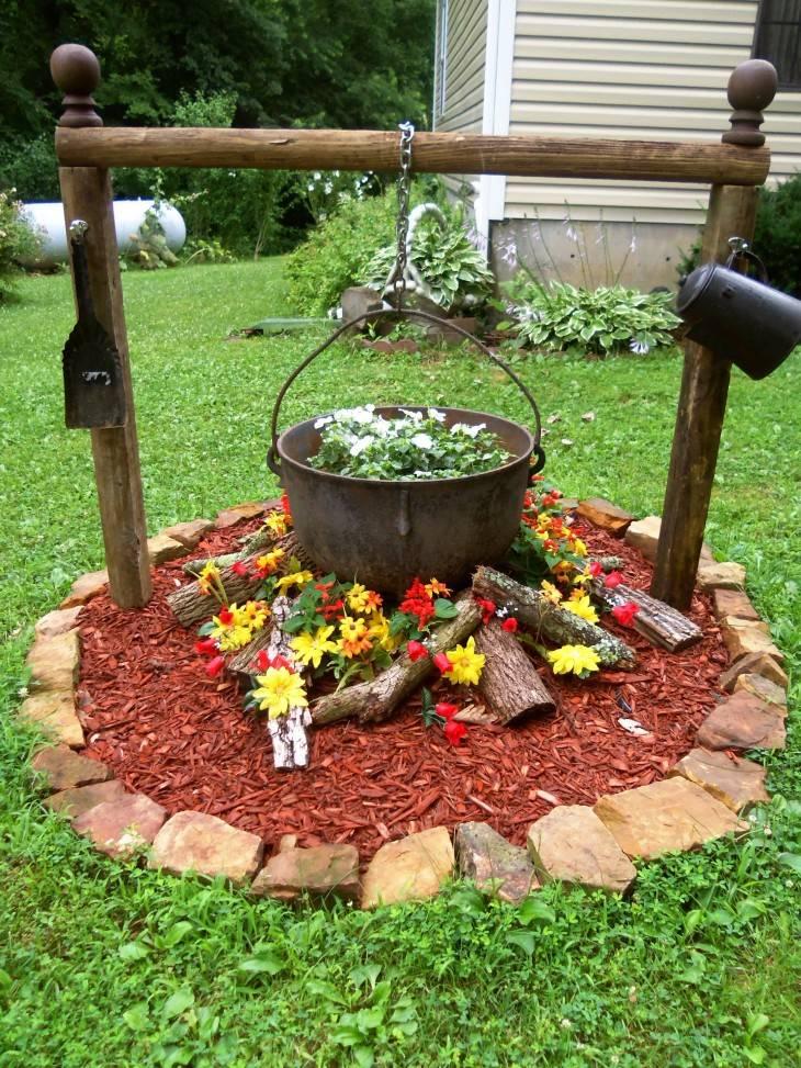 Поделки для дачи — полезные, стильные и красивые украшения для дачного сада и огорода (110 фото)