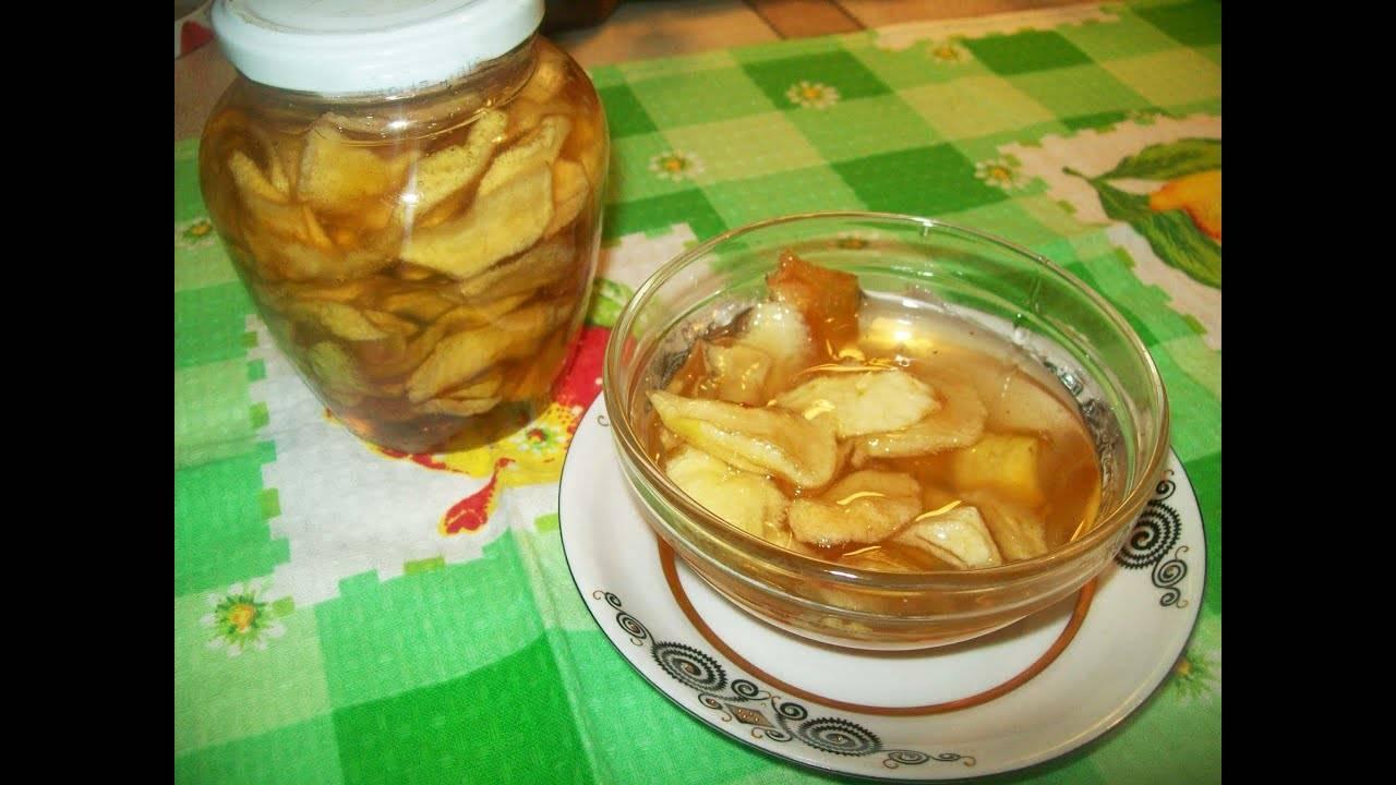 Яблочное варенье дольками «янтарное»