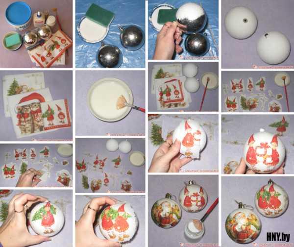 Изготовление елочных шаров своими руками: идеи, техники, фото