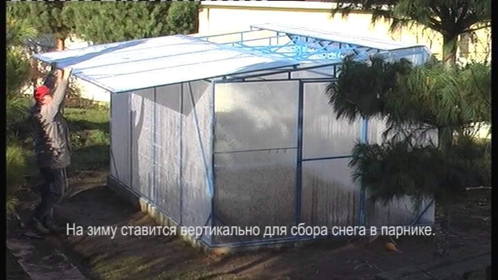 Теплица с открывающейся крышей: виды и конструкции, самостоятельная установка
