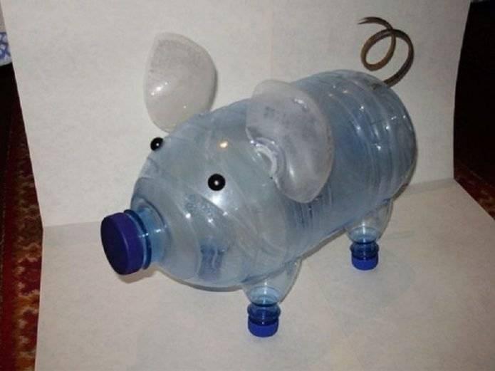 Ослик из пластиковых бутылок своими руками