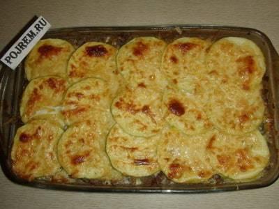 Запеканка из кабачков и помидоров с сыром в духовке