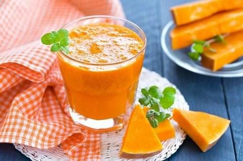 Освежающий сок из тыквы с апельсином
