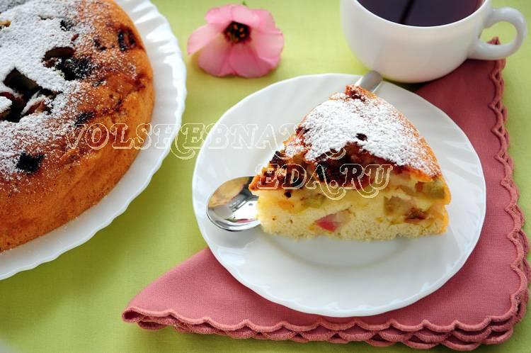 Пирог с ревенем — рецепты из дрожжевого, песочного, слоеного и теста на кефире, в мультиварке, видео