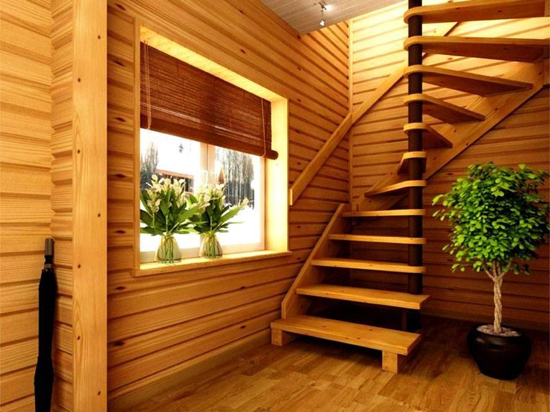 Поэтапные расчеты для винтовой лестницы