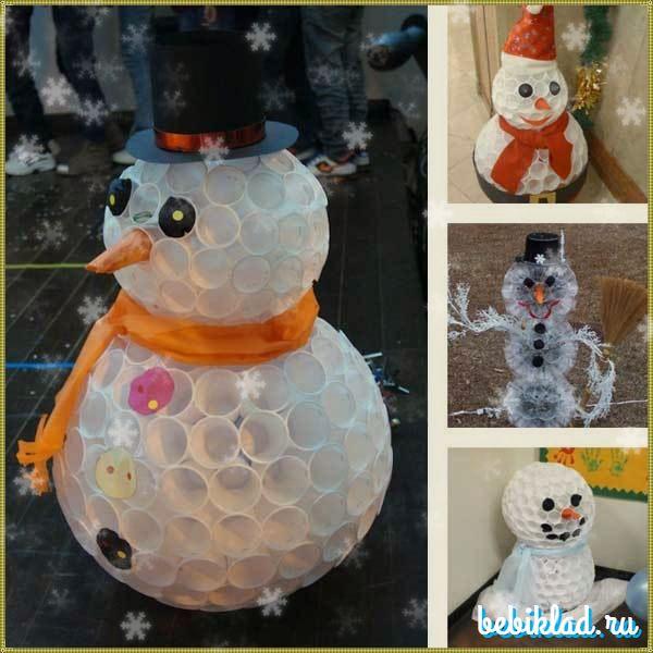 Елолчные игрушки своими руками на уличную елку из пенопластовых шаров, пластиковых бутылок, видео