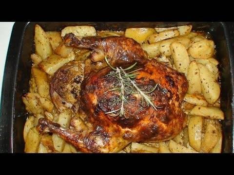 Курица с картошкой в духовке – самые вкусные рецепты