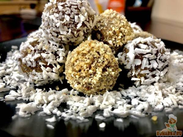 Вкусные и полезные конфеты из фиников с орешками кешью своими руками