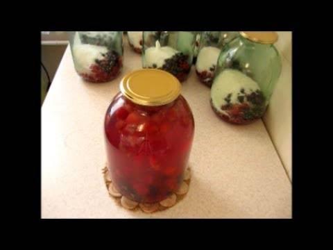 Компот ягодное ассорти на зиму с сахаром без стерилизации