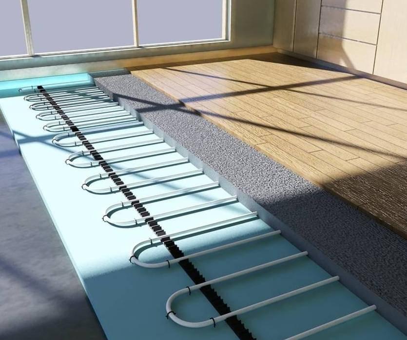 Оптимальная система теплых полов для укладки под ламинат