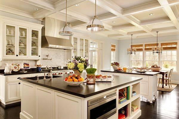 Стеклянные столы для кухни: виды, дизайн и примеры в интерьере