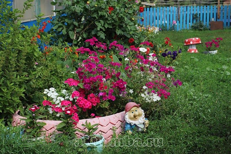 Цветники и клумбы на все лето