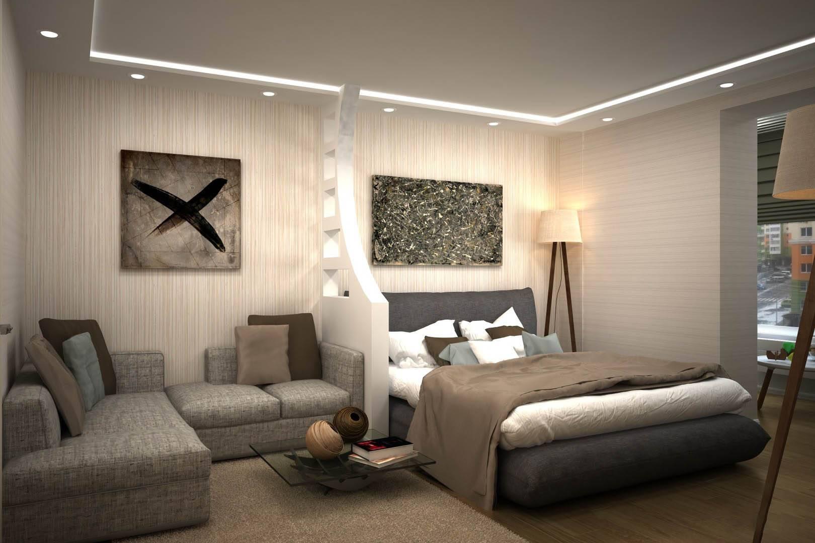 Вопросы дизайна интерьера: если спальня и гостиная совмещены в одной комнате?