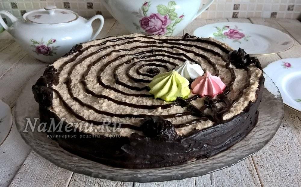 Торт трухлявый пень с вареньем: рецепты с фото