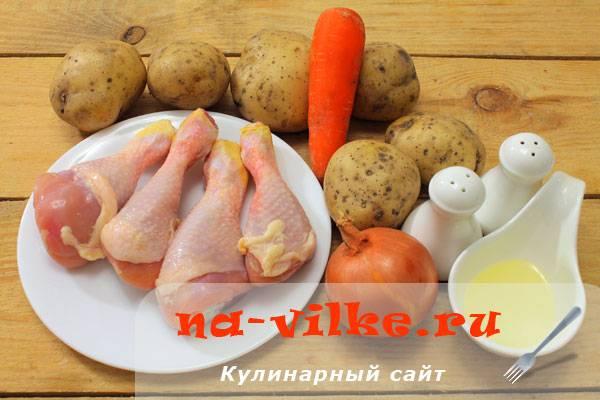 Курица в горшочке с картошкой жаркое