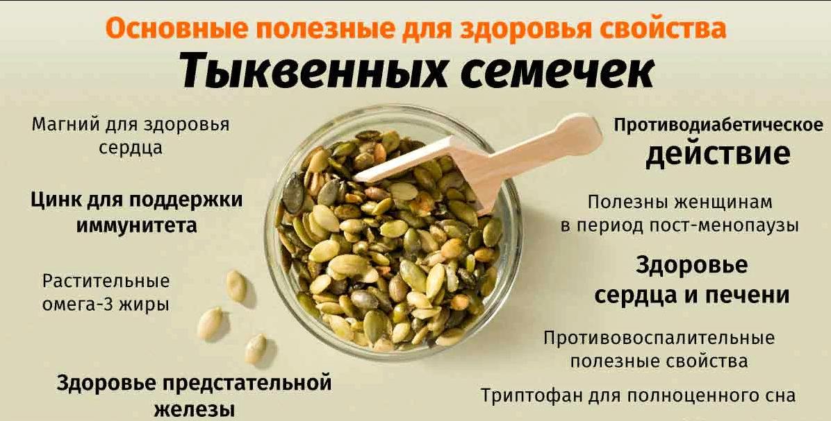Польза и вред семечек тыквы для мужчин