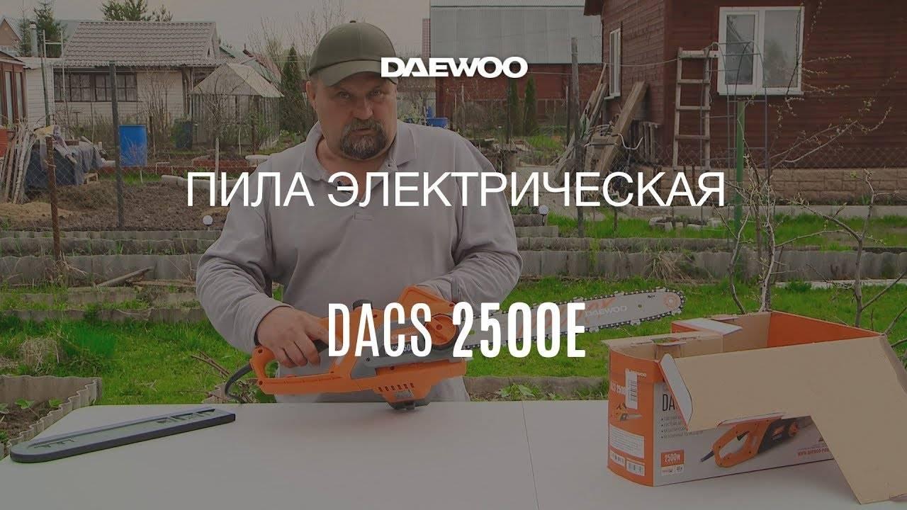 Электропилы daewoo. модельный ряд. правила техники безопасности при работе с цепной электропилой