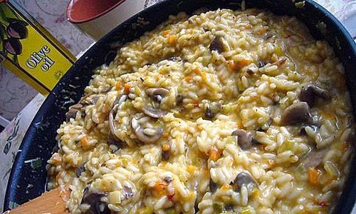 Пошаговый рецепт приготовления ризотто с грибами