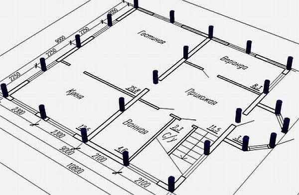 Свайно-ростверковый фундамент - устройство, размеры, видео