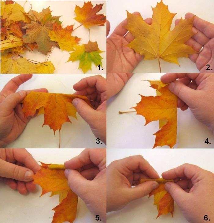 Листья гармошкой из бумаги: 8 вариантов, шаблоны, мастер-класс