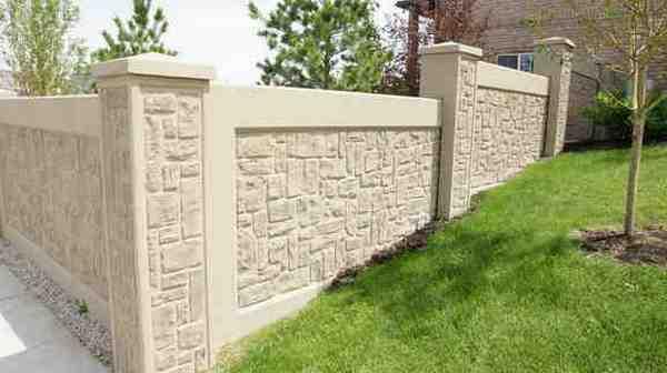 Как сделать бетонный забор