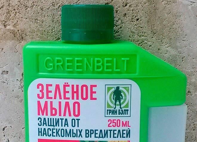 О применении раствора «зеленое мыло» от насекомых