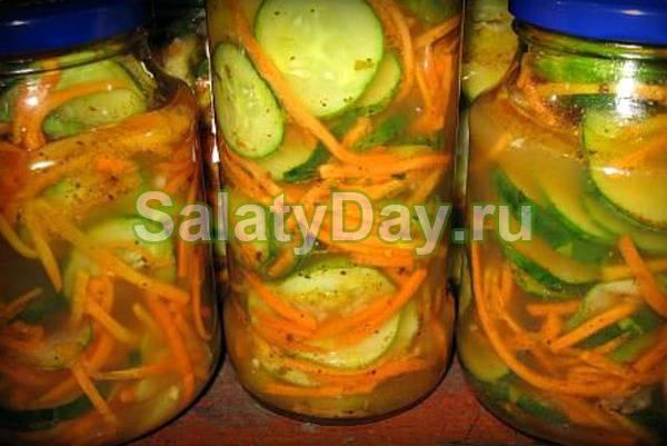 Салат из патиссонов по-корейски