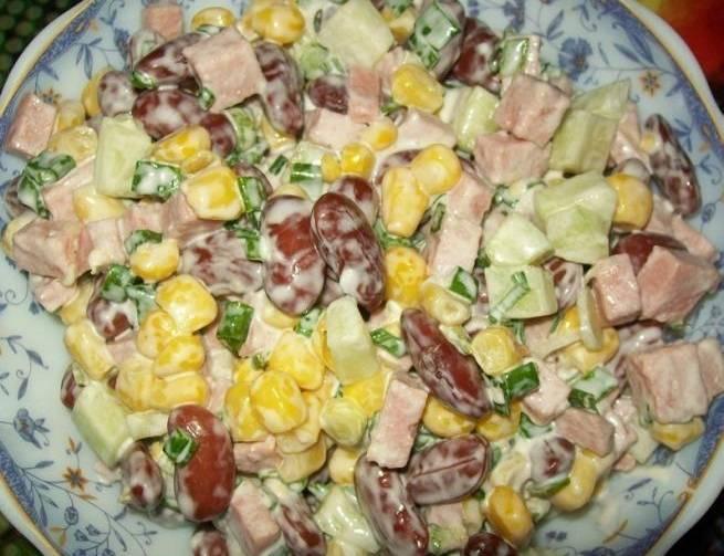 Салаты с фасолью и сухариками — очень вкусные рецепты приготовления с фото