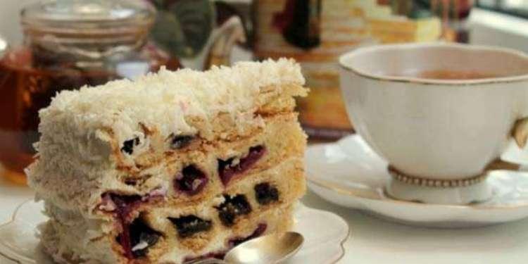 Рецепты торта с вишней — приготовление панчо, вишня в снегу, видео