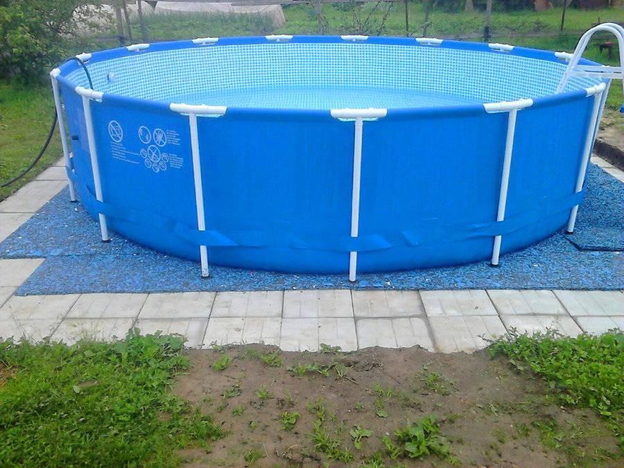 Как правильно собрать и установить каркасный бассейн на даче